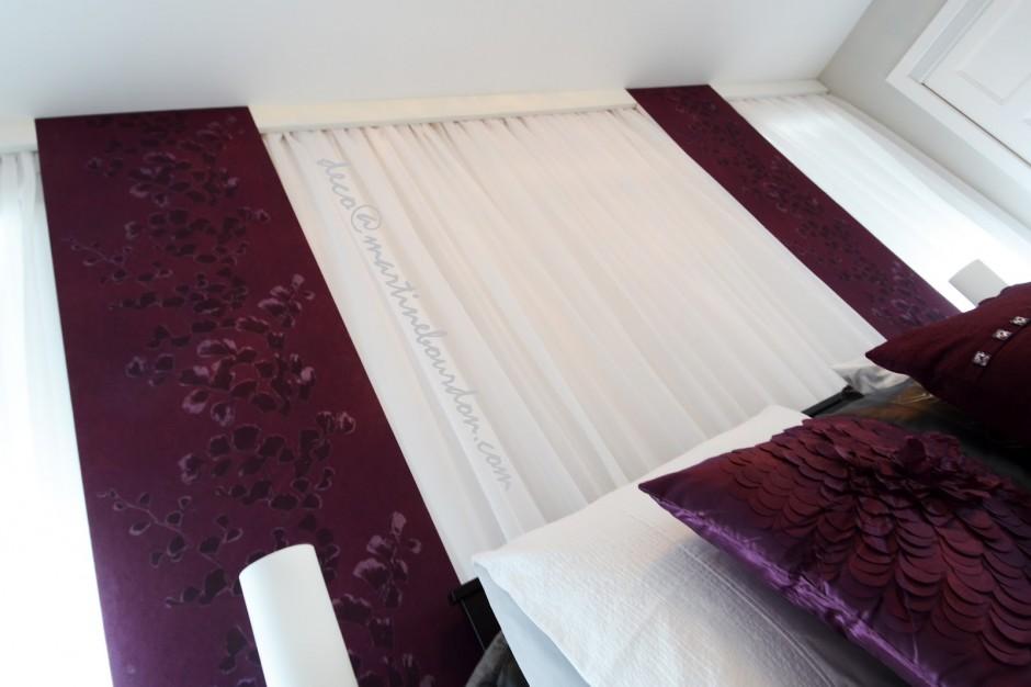 chambre après, mur rideaux
