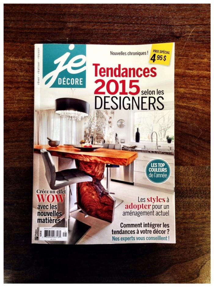 Je décore Designer Tendances 2015 Page couverture