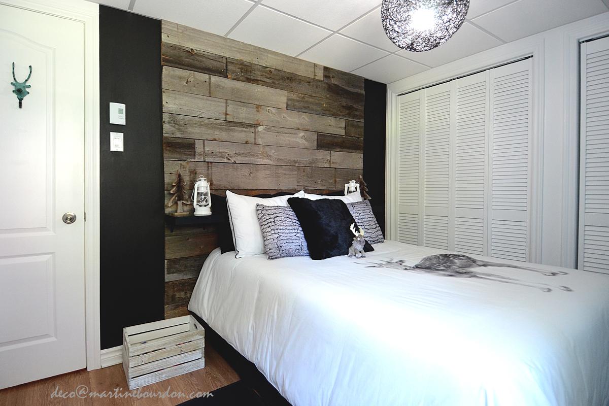 Chambre Avec Un Mur Noir bois de grange pour la chambre d'ado! - martine bourdon
