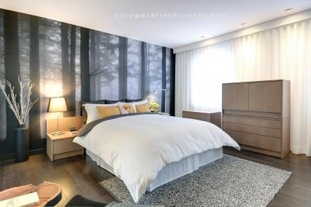 decoration_chambre des maitres_literie_rideaux_murale