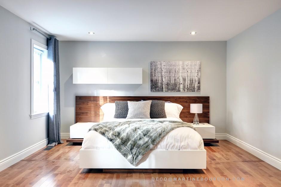 lit moderne et épuré
