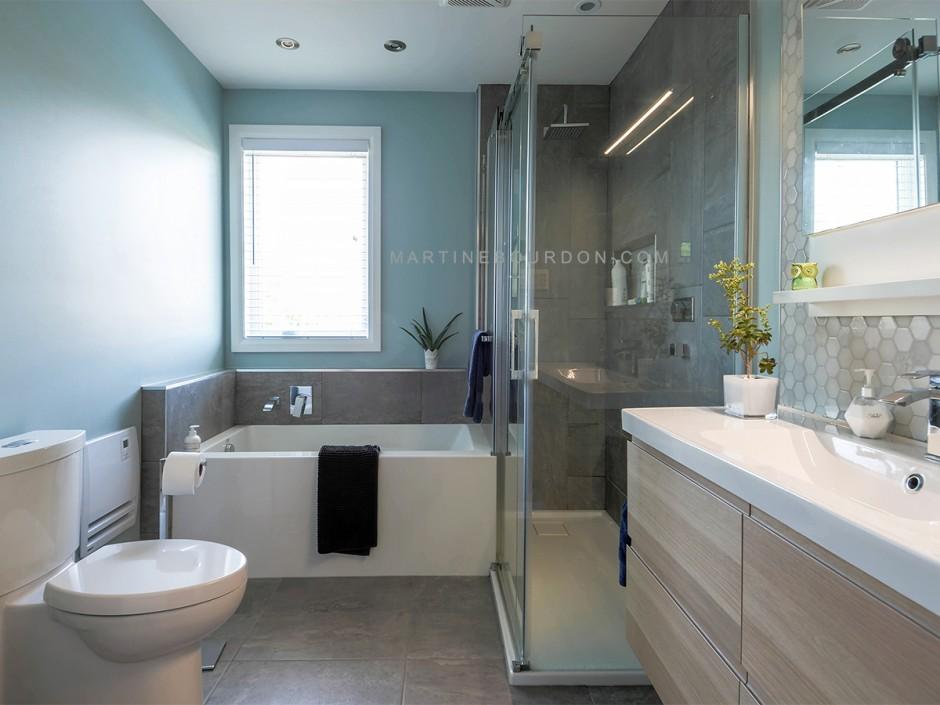 réaménagement d'une salle de bain et agencement des finis