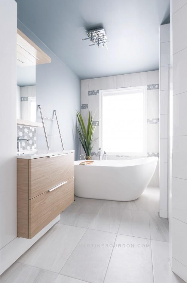 salle de bain mosaïque hexagonale