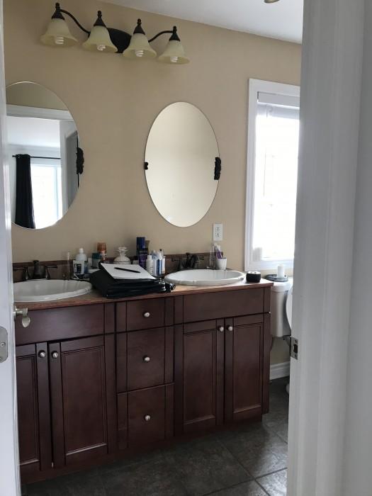 salle de bain avant les rénovations